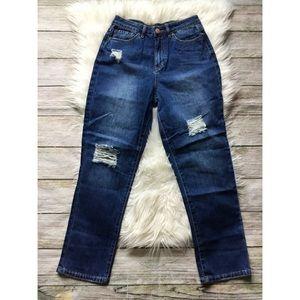 Fashion Nova Mom Jeans Summer Nights NWT